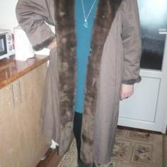 Palton iarna XXL - Palton dama, Marime: 54, Culoare: Cappuccino