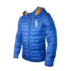 Geaca Barbati Ralph Lauren Model De Toamna Cod Produs D602, Marime: L, XL, XXL, Culoare: Albastru, Microfibra