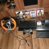 PlayStation 3 Sony+ 4 jocuri +volan cu pedale