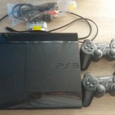 Consola SONY PS3 Super Slim 12GB, Blu-Ray + 2 controllere - PlayStation 3