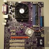 Kit socket 939 placa baza ECS NFORCE4-A939 PCIE, SATA si AMD Athlon 64 X2 3800+ - Placa de Baza ECS, Pentru AMD, DDR, Contine procesor, ATX