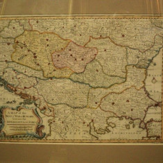 A Map of the Seat of War in Hungary between Imperialists and the Turks 1750, Harta conflictelor dintre impeialisti si turci - Harta Romaniei