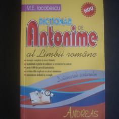 M. E. IACOBESCU - Dictionar Altele DE ANTONIME AL LIMBII ROMANE