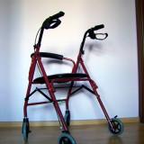 Premergator/Carucior pentru persoane cu dizabilitati, 4 roti, pliabil - Scaun cu rotile