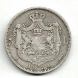 ROMANIA 5 LEI 1884 STARE STARE EXCELENTA - Moneda Romania