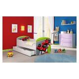 Pat Junior 160 x 80 cm cu saltea si sertar Formula 1 Acma - Patut lemn pentru bebelusi