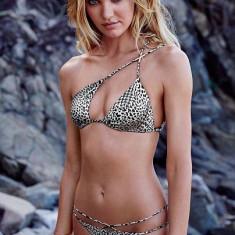Costum de baie leopard alb Victoria's Secret, Marime: S, Culoare: Din imagine