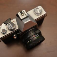 Vand Kit Praktica MTL3 cu obiectiv M42 Pentacon 50mm 1.8 - Aparat Foto cu Film Praktica