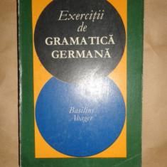 Exercitii de gramatica germana ( cu cheia exercitiilor )an 1969/479pag- Abager - Curs Limba Germana Altele