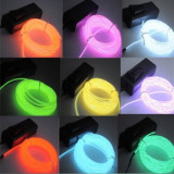 Fir electroluminescent neon flexibil EL Wire 2, 3 mm, cu margine