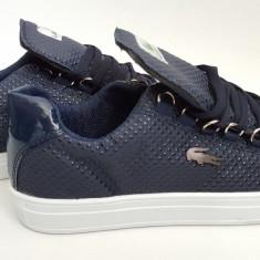 Adidasi Lacoste bleumarin.Model barbati 2016 - Adidasi barbati Lacoste, Marime: 40, 41, 42, 43, 44